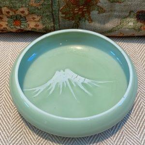 Nabeshima Bowl Mt Fugi celadon porcelain